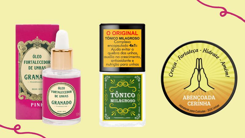 Selecionamos 7 produtos que vão garantir unhas saudáveis, fortes e bonitas