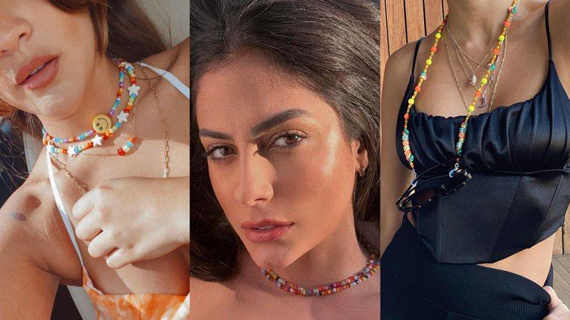 Mari Gonzalez, Giulia Costa, Manu Gavassi já entraram na moda das miçangas coloridas
