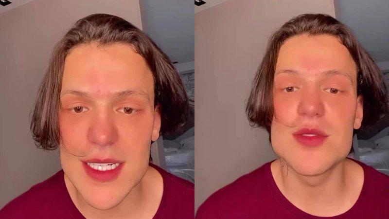 Saulo Poncio surge com nova aparência e internautas o comparam com 'Beiçola'