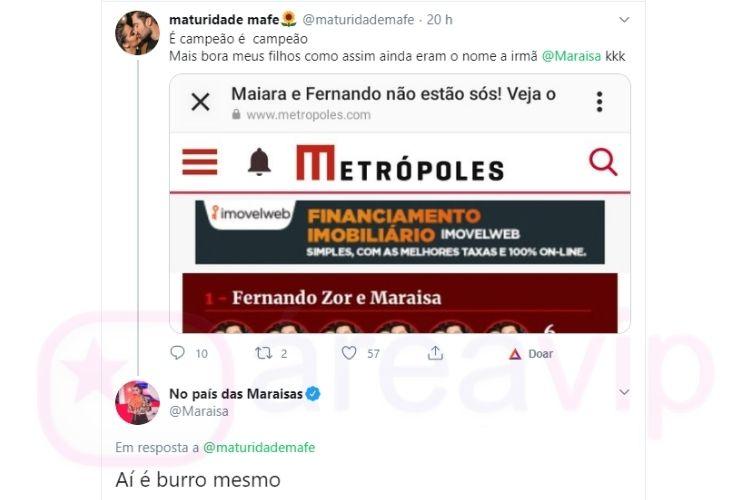 Maraisa reage a erro de Leo Dias