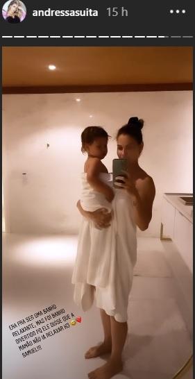 Andressa Suita surge em momento fofo com o filho