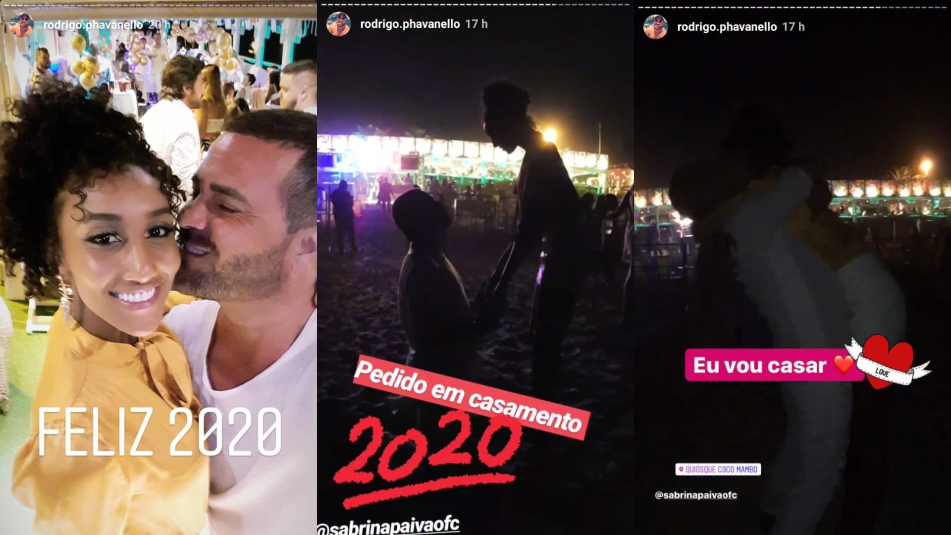 Rodrigo Phavanello pede Sabrina paiva em casamento