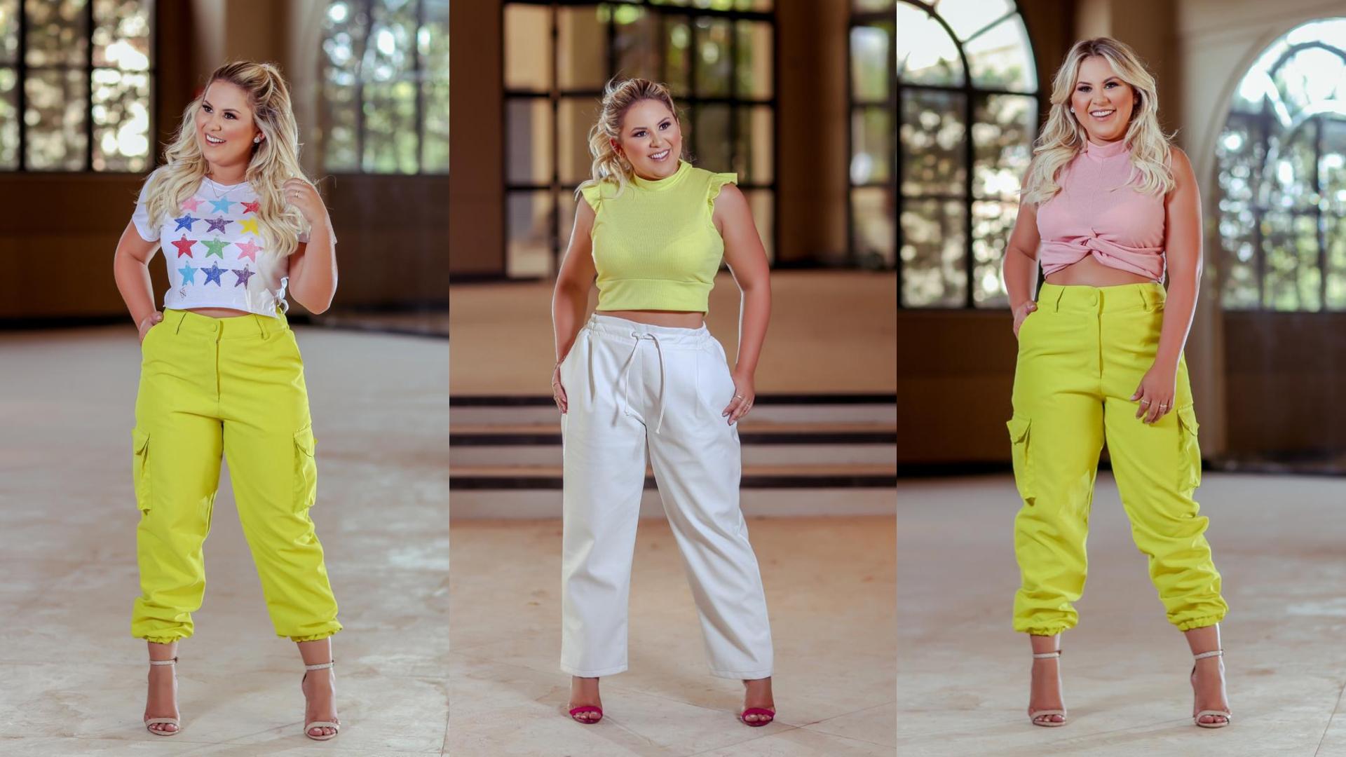 Natália Toscano aposta em looks com peças fluorescentes