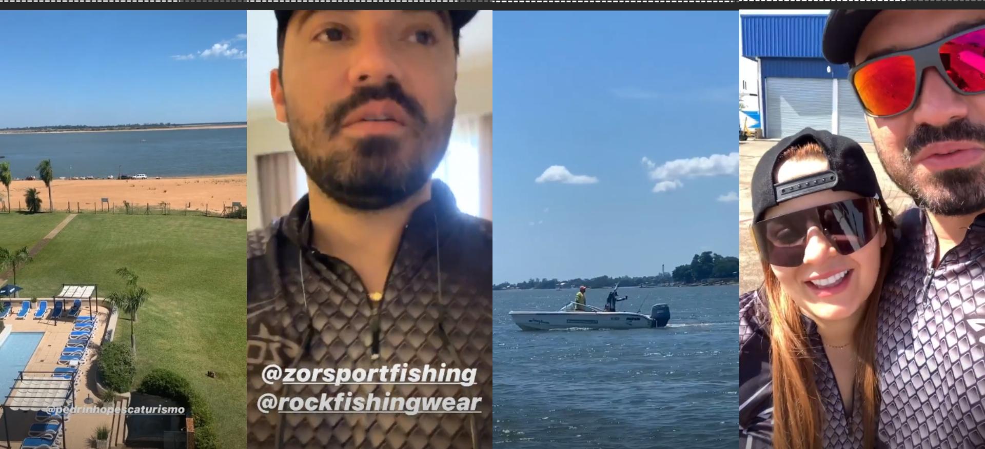 """Fernando Zor leva Maiara e Maraisa para pescar em cidade argentina: """"Cadê o peixe?"""""""