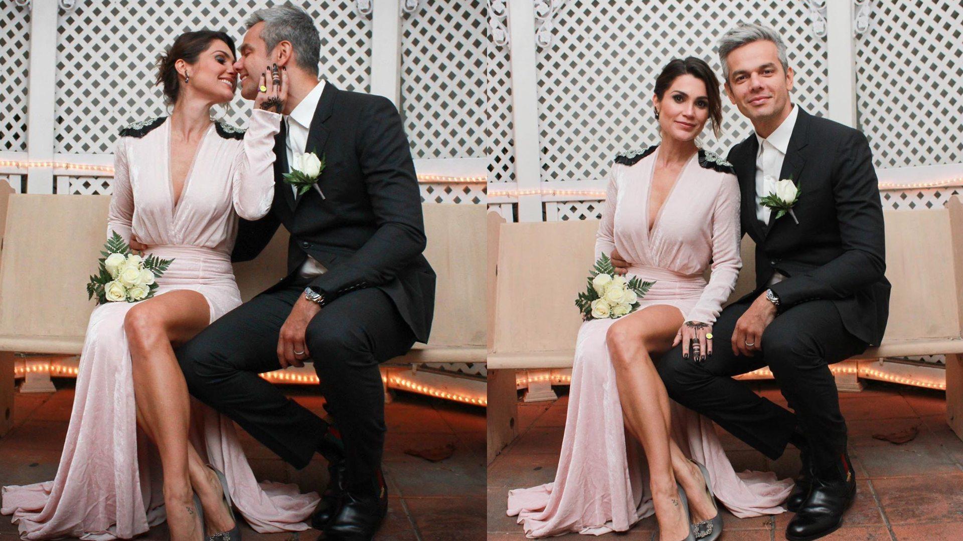 Flávia Alessandra e Otaviano Costa se casam pela quarta vez