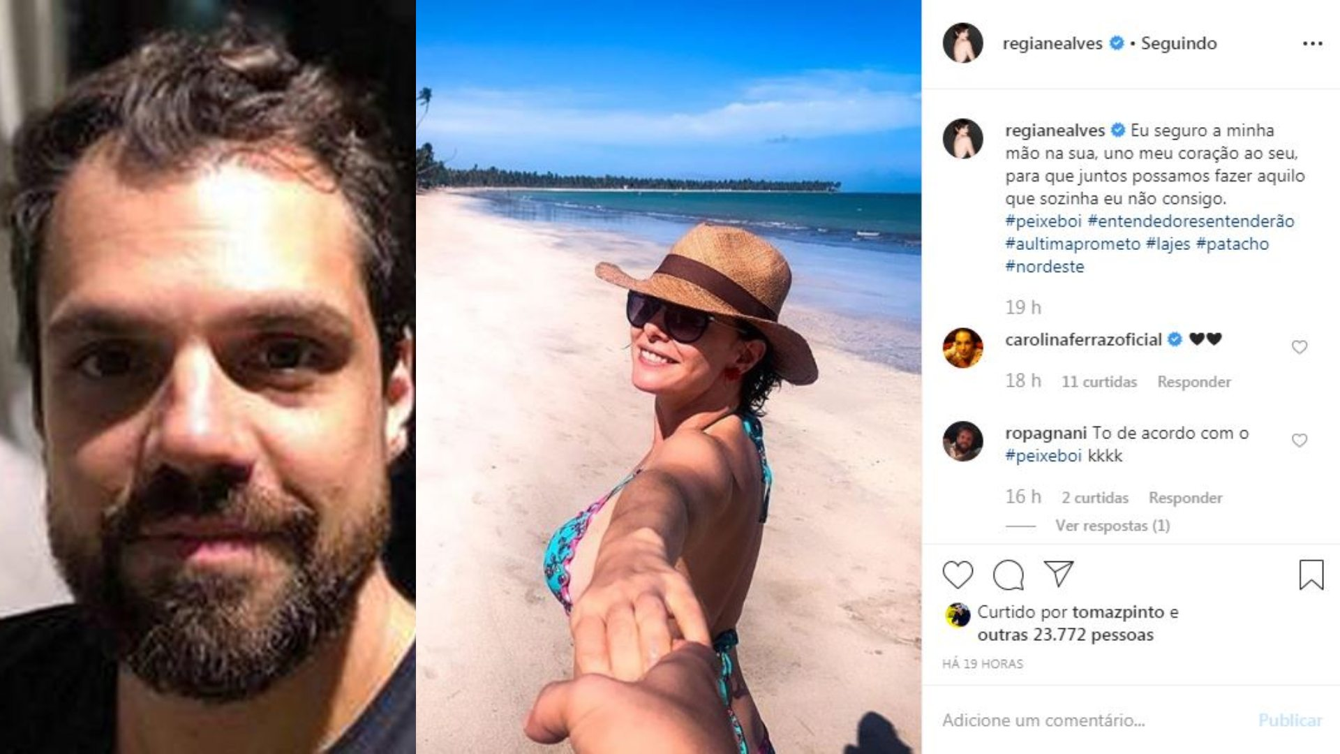 Regiane Alves assume namoro