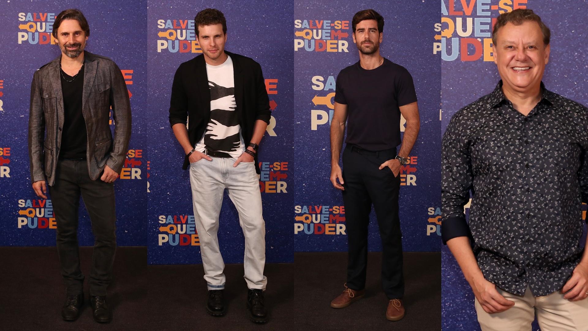 Elenco de 'Salve-se Quem Puder' na festa de lançamento da novela
