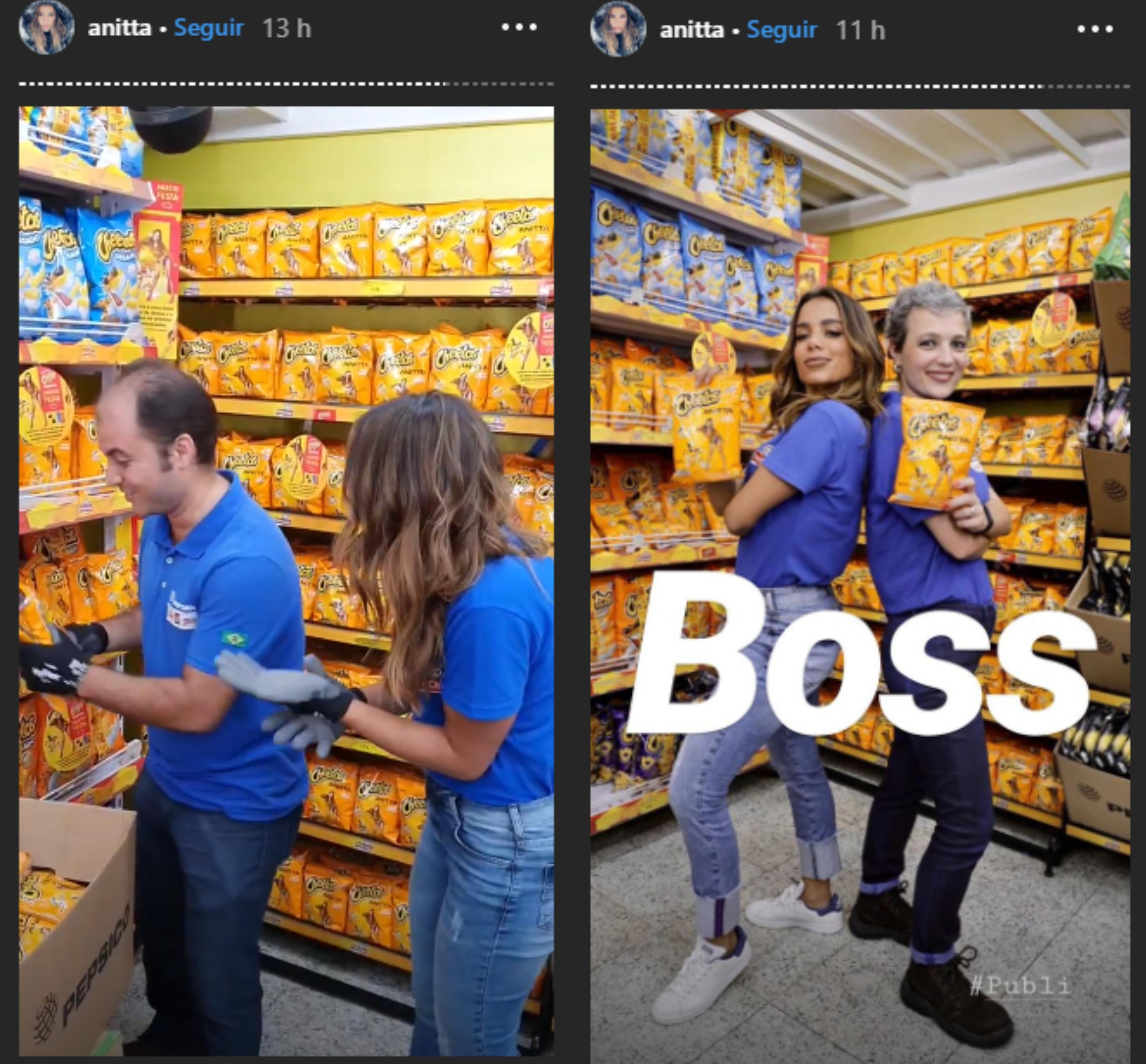 Anitta tem dia diferente em supermercado em Madureira