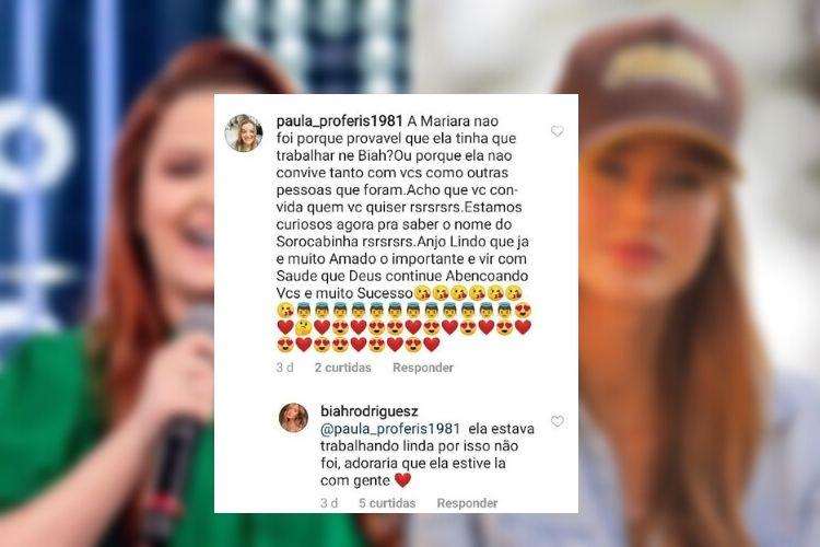 Biah Rodrigues esclarece suposta briga com Maiara