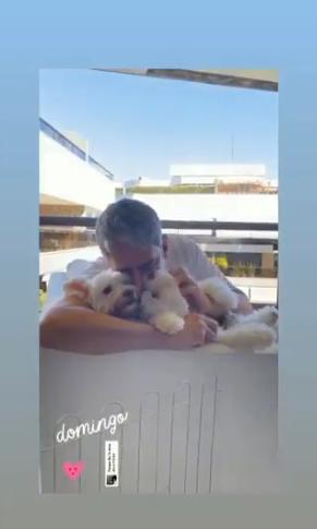 William Bonner e seu cachorrinho