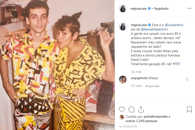 Regina Casé impressiona ao surgir em clique nostálgico
