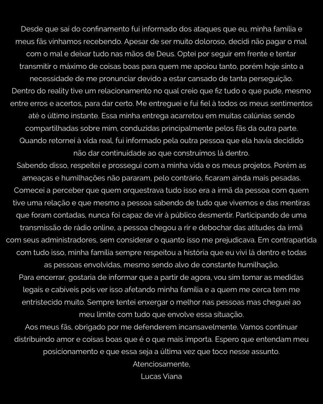 Carta de Lucas Viana