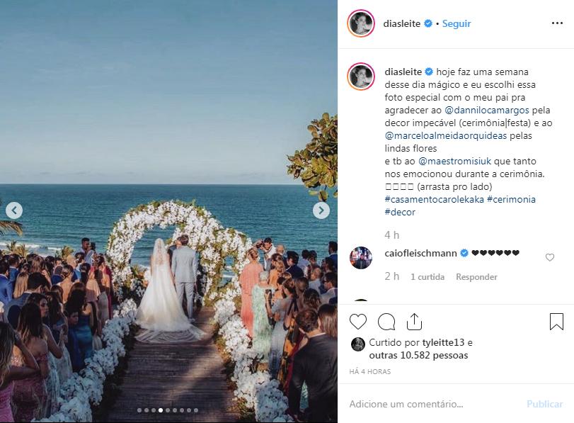 Carol dias mostra detalhes de sua festa de casamento