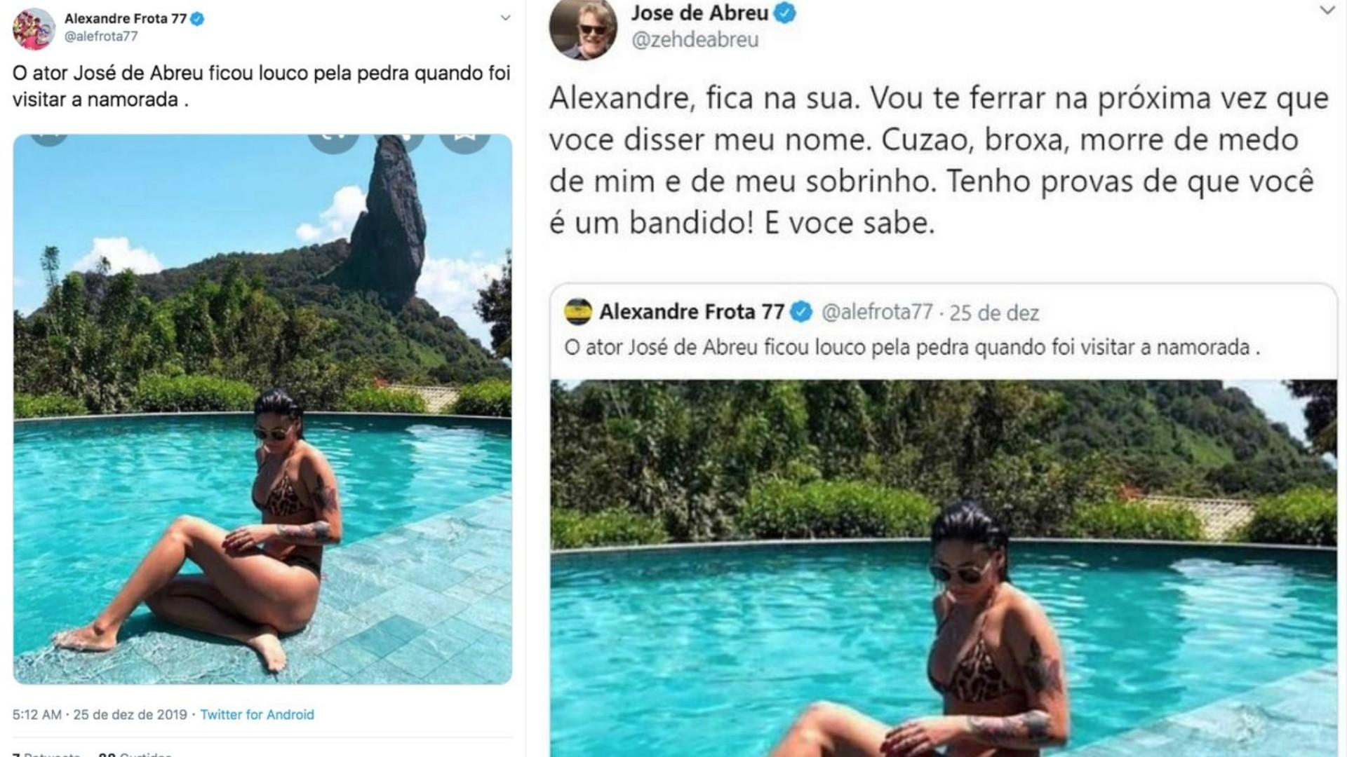 José de Abreu e Alexandre Frota trocaram farpas no Twitter