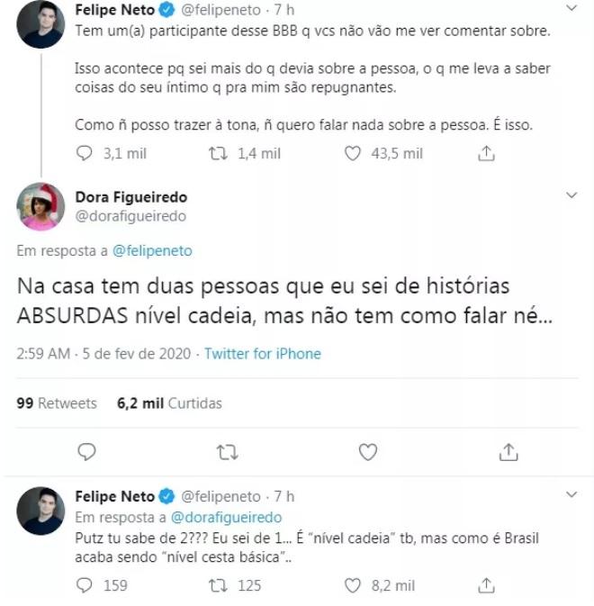 Felipe Neto faz revelação