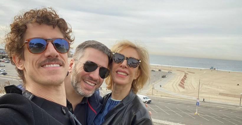 Marília Gabriela curtiu passeio em Santa Mônica ao lado dos fihos