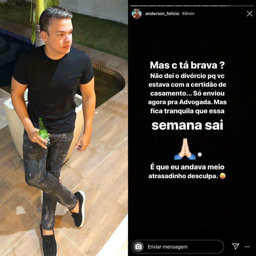 Anderson Felício responde Munik Nunes