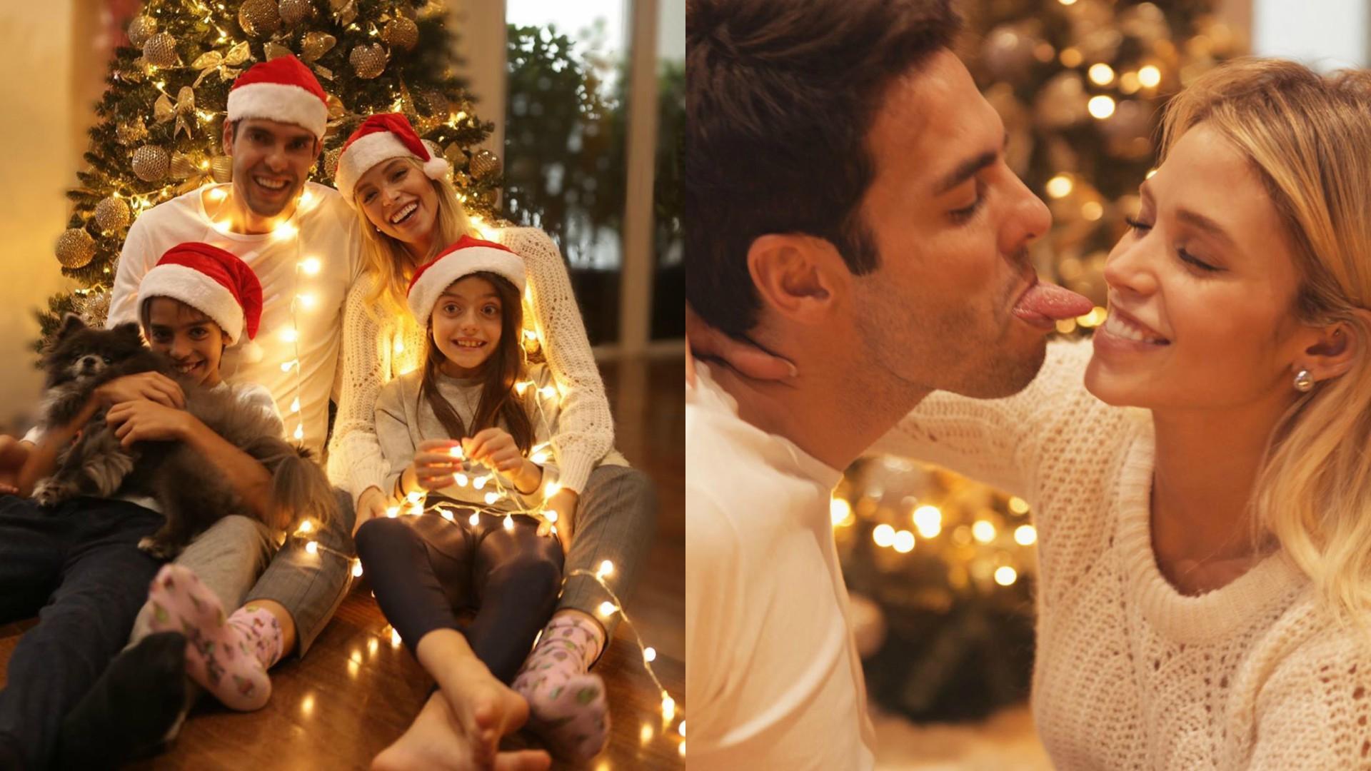 Kaká e Carol Dias curtem o primeiro natal após o casamento