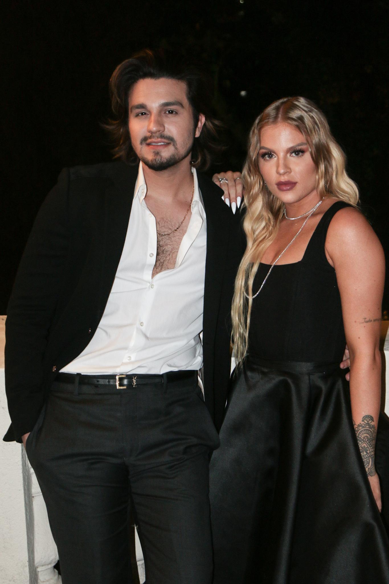 Luan Santana e Luísa Sonza em gravação