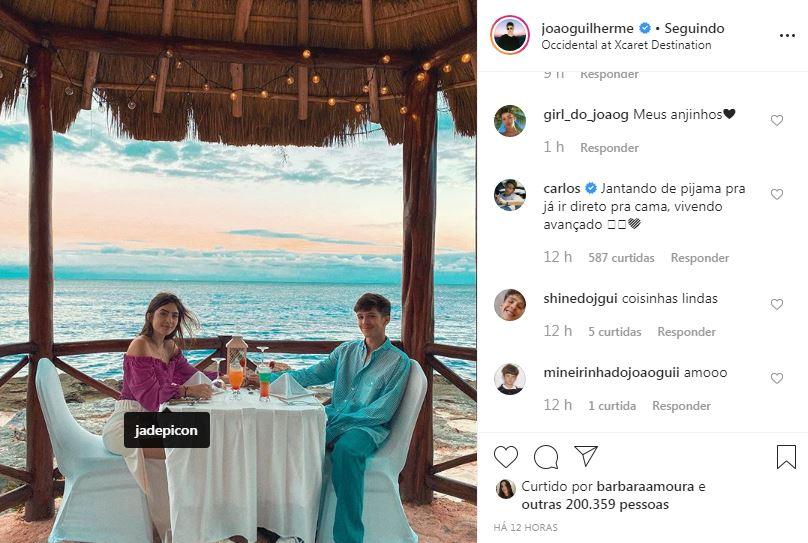 Carlos faz comentário hilário em foto de João Guilherme