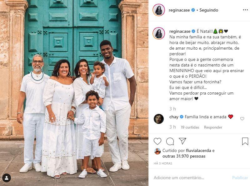 Regina Casé reune a família