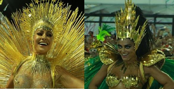 Sabrina Sato e Juliana Paes arrasaram como rainhas de bateria