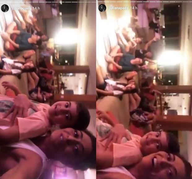 Juliana Paes reúne família em noite especial