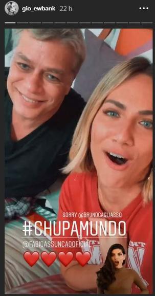 Fábio Assunção e Giovanna Ewbank