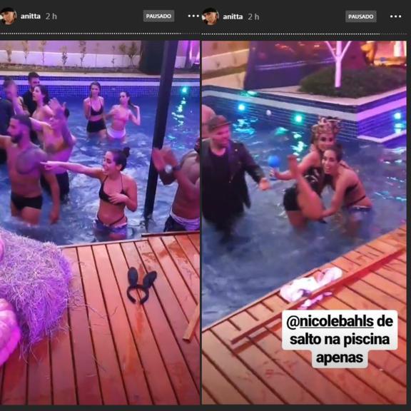 Convidados continuam festa e Halloween na piscina