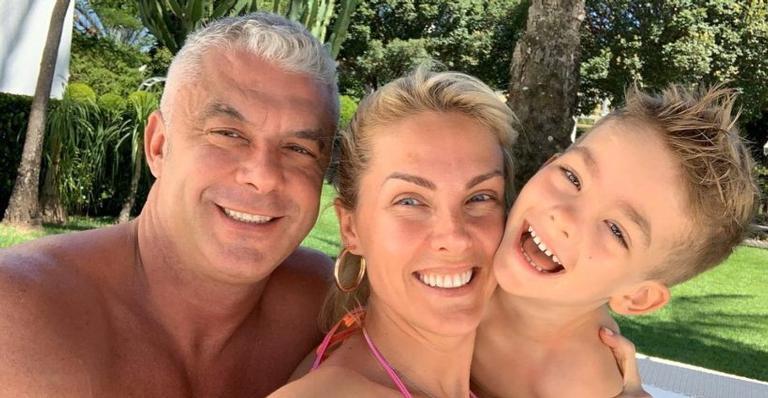 Alexandre Corrêa, Ana Hickmann e Alexandre Corrêa Jr.