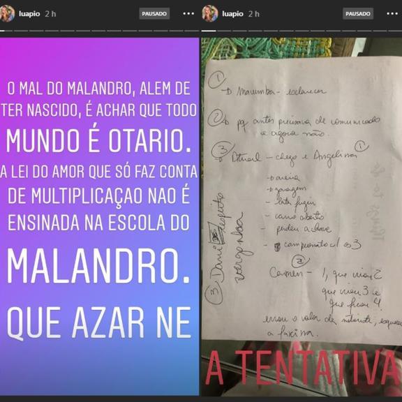Luana Piovani manda indireta nas redes sociais