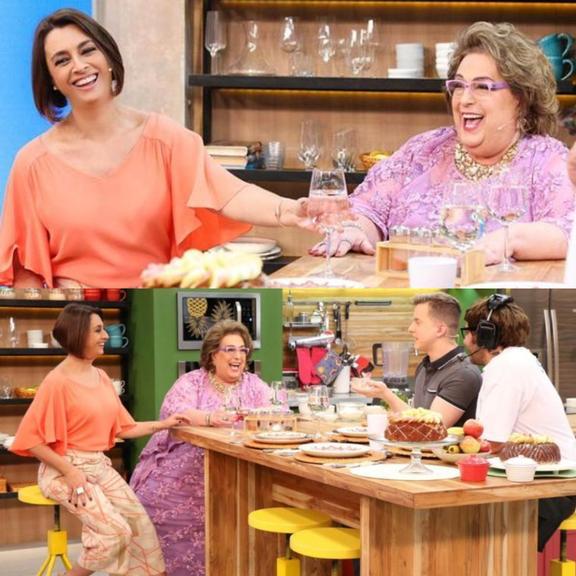 Mamma Bruschetta tem reencontro marcante com Cátia Fonseca em programa da Band