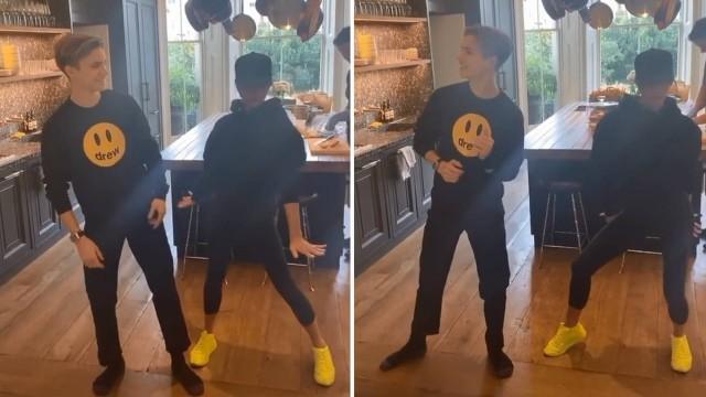 Victoria Beckham e filho dançam Spice Girls
