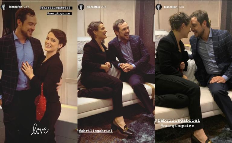 Em rara aparição, Sérgio Guizé surge ao lado de Bianca Bin em momento romântico