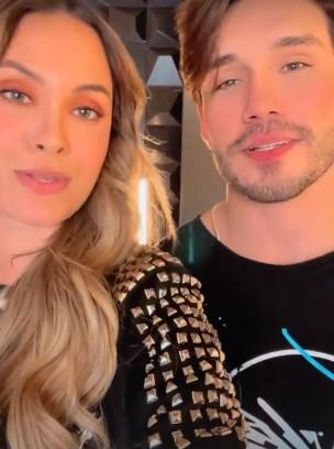 Lucas Viana e Sarah Andrade se encontram