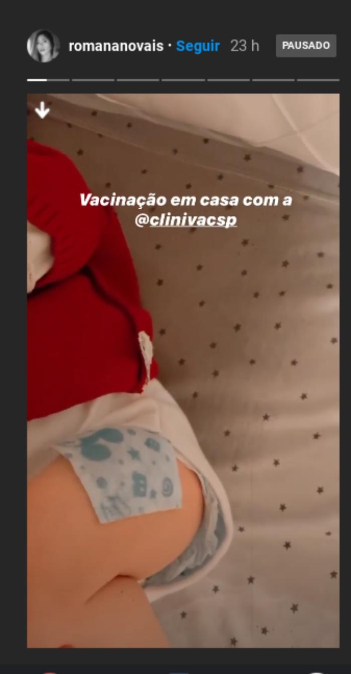 Romana Novais mostra o melhor remédio após Ravi tomar vacina
