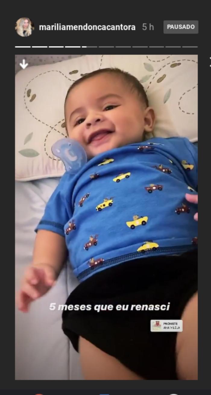 Marilia Mendonça comemora 5 meses do filho Léo