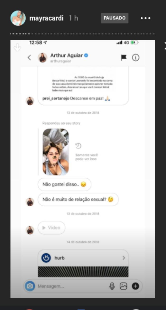 Mayra Cardi se pronuncia e expõe provas na web