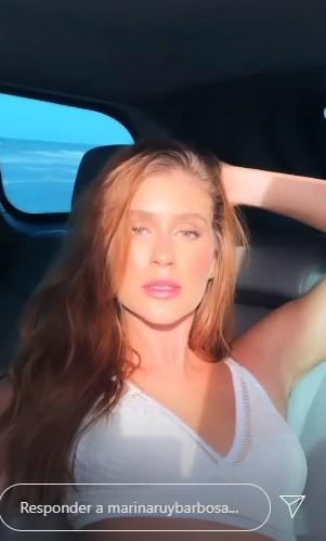 Marina Ruy Barbosa posa de lingerie