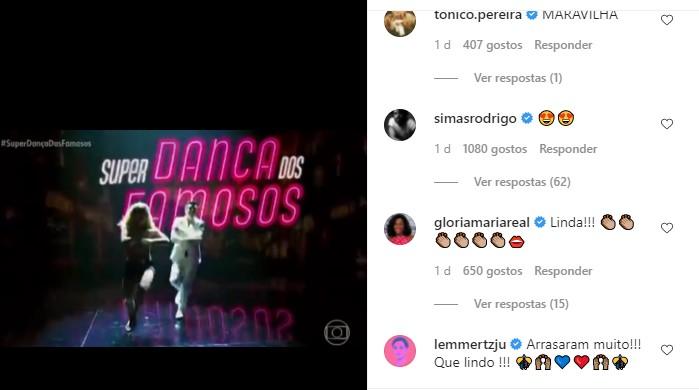 Rodrigo Simas faz comentário sobre a vitória de Paolla Oliveira na 'Super Dança dos Famosos'