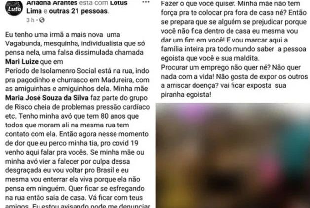 Texto de Ariadna Arantes sobre a irmã