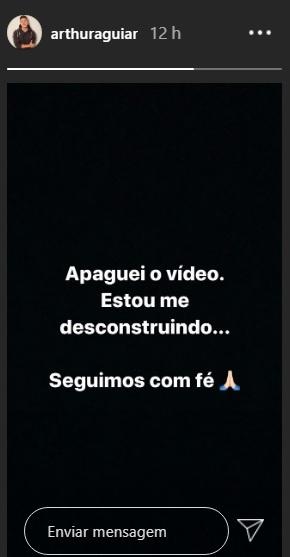Arthur Aguiar apaga vídeo