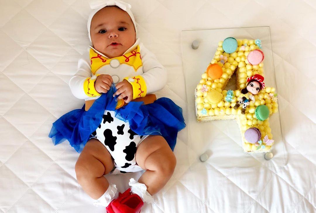 Filha de Ticiane Pinheiro surge fantasiada em clique fofo
