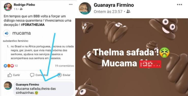 Guanayara Firmino dispara frases racistas contra Thelma