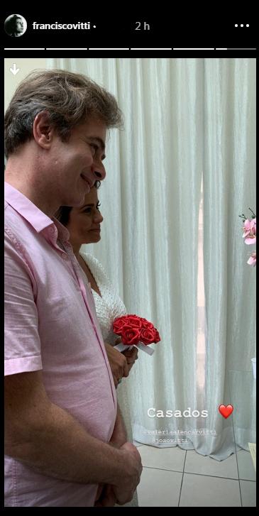 João Vitti e Valéria Alencar oficializam o casamento