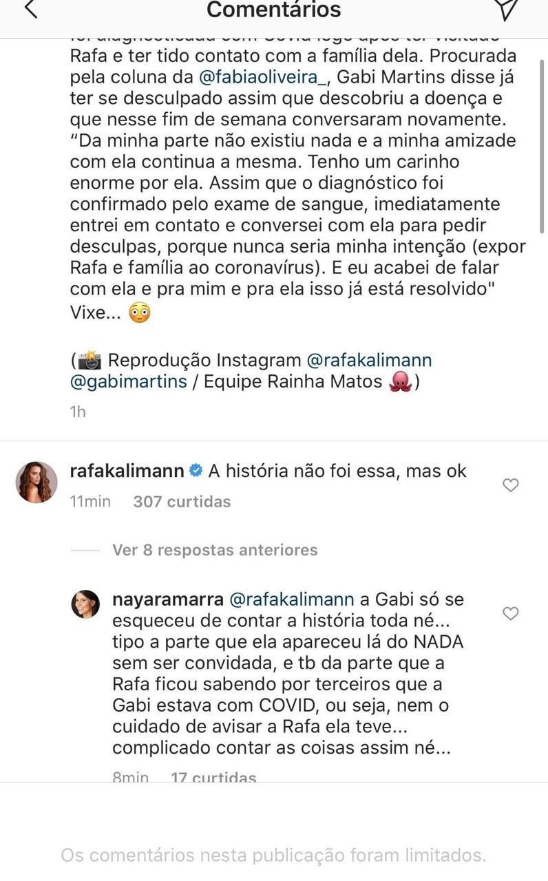 Amiga de Rafa Kalimann revela sobre discussão com Gabi Martins