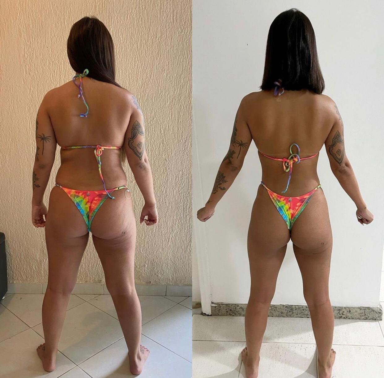 Antes e Depois de Julia Peixoto